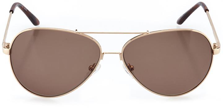 la rochelle: women's aviator sunglasses in gold - front view