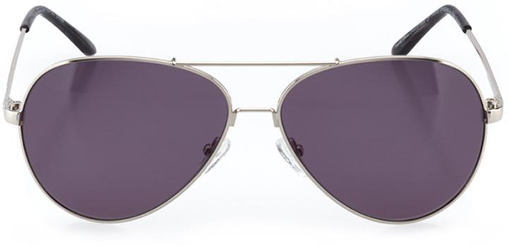 la rochelle: women's aviator sunglasses in silver - front view