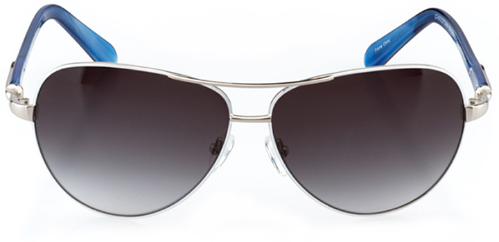 cannes: women's aviator sunglasses in white - front view