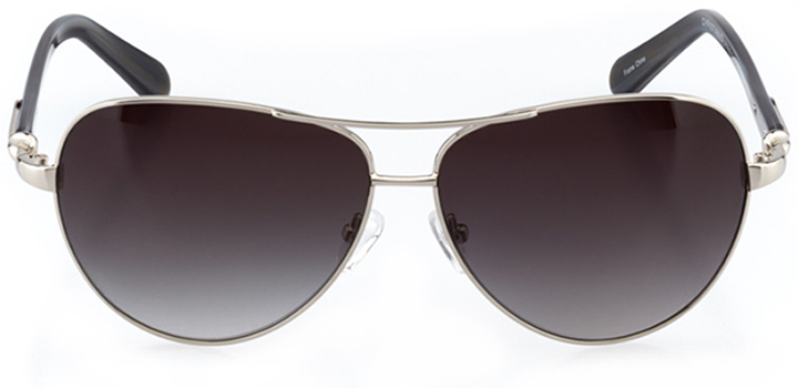 cannes: women's aviator sunglasses in silver - front view