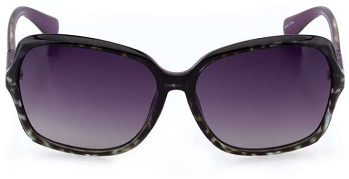 bayonne: women's butterfly sunglasses in purple - front view