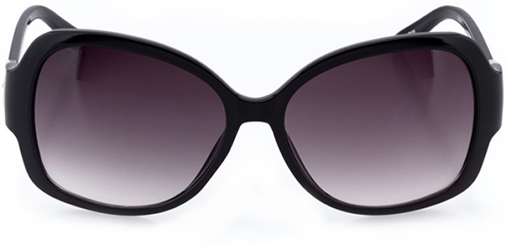 mantes-la-jolie: women's butterfly sunglasses in black - front view