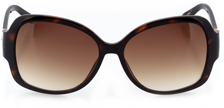 mantes-la-jolie: women's butterfly sunglasses in tortoise - front view