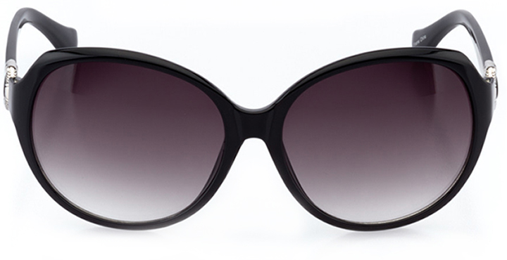 saint-malo: women's oval sunglasses in black - front view