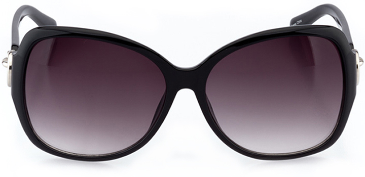cambrai: women's butterfly sunglasses in black - front view