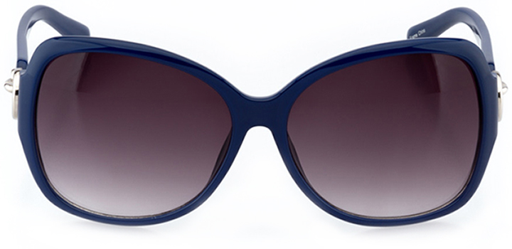 cambrai: women's butterfly sunglasses in blue - front view