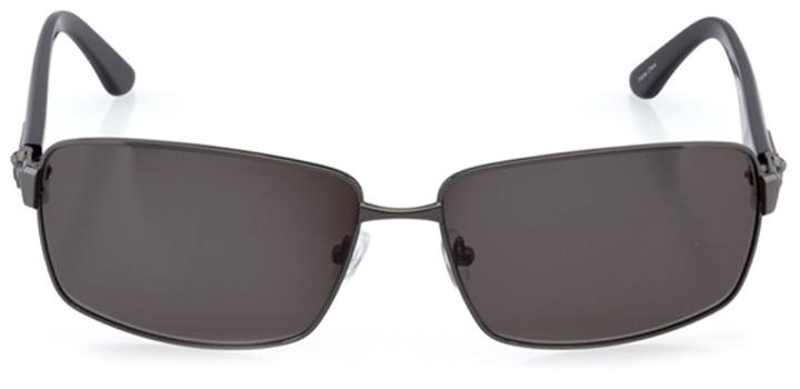patras: men's rectangle sunglasses in gray - front view