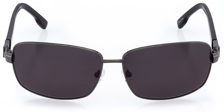 aberdeen: men's rectangle sunglasses in gray - front view