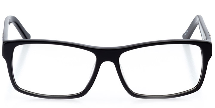 lincoln: men's square eyeglasses in black - front view