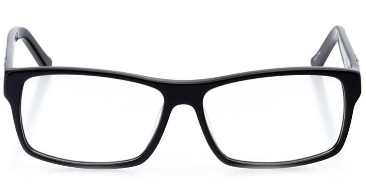 lincoln: men's square eyeglasses in black - front view
