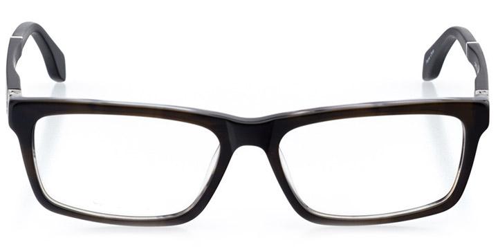 ottowa: men's rectangle eyeglasses in gray - front view