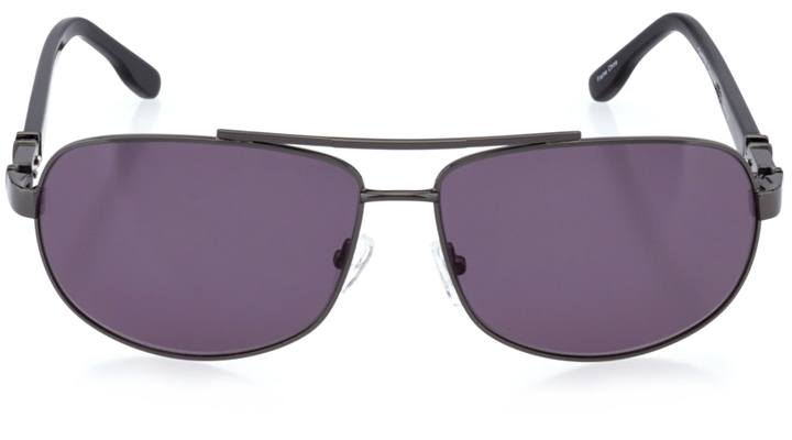 trondheim: men's rectangle sunglasses in gray - front view