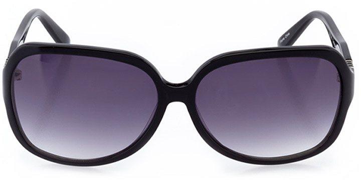 cortona: women's butterfly sunglasses in black - front view