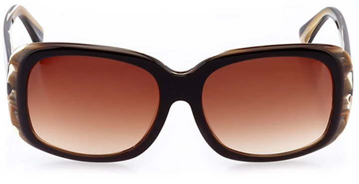 lecce: women's butterfly sunglasses in brown - front view