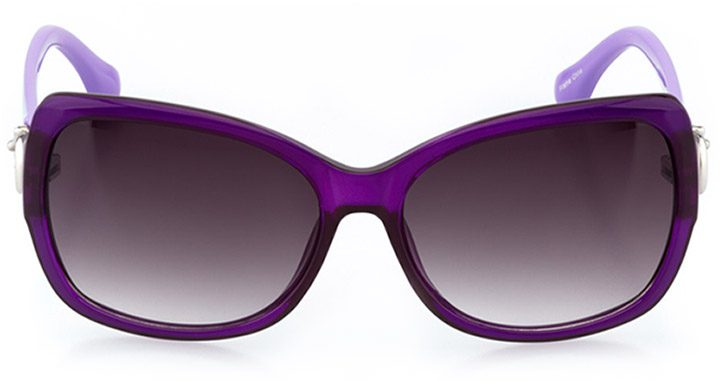 andria: women's butterfly sunglasses in purple - front view