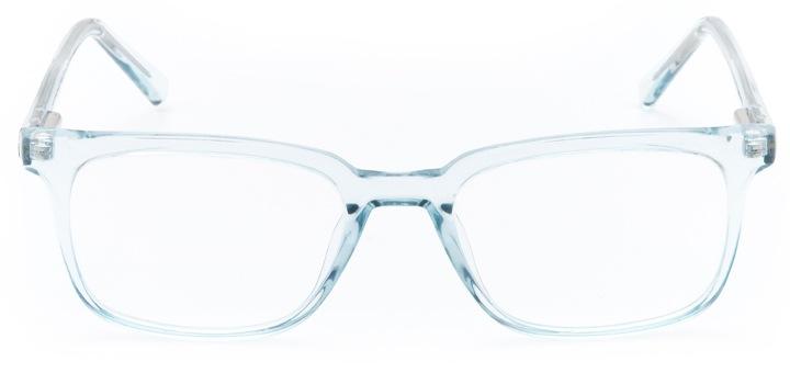 golden gate: women's rectangular eyeglasses in blue - front view