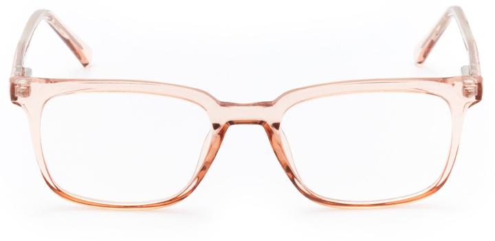 golden gate: women's rectangular eyeglasses in pink - front view