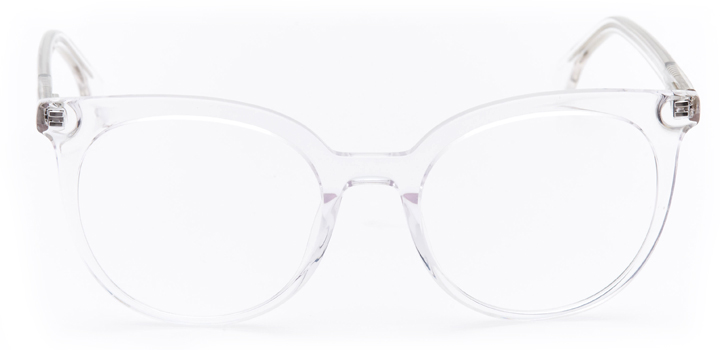 rennes: women's round eyeglasses in crystal - front view
