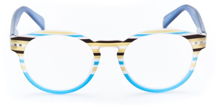 pessac: women's round eyeglasses in blue - front view
