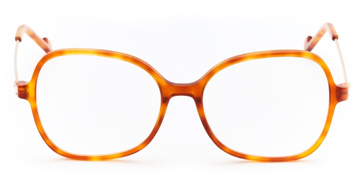 mulholland: women's butterfly eyeglasses in brown - front view