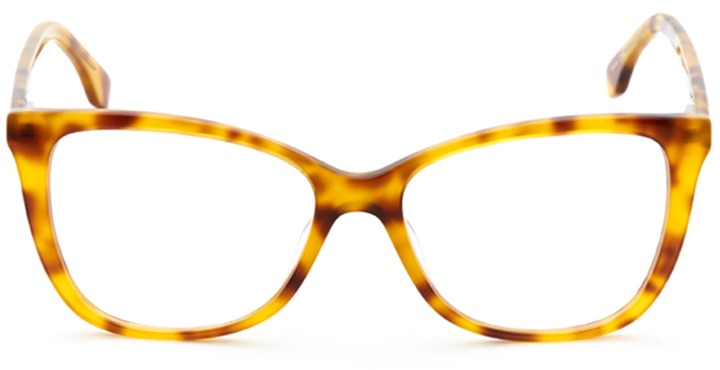 chartres: women's cat eye eyeglasses in tortoise - front view