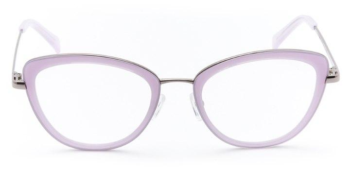 saint-malo: women's cat eye eyeglasses in purple - front view