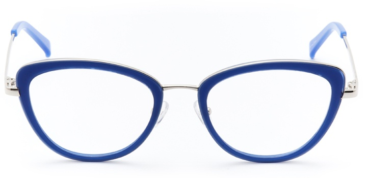 saint-malo: women's cat eye eyeglasses in blue - front view