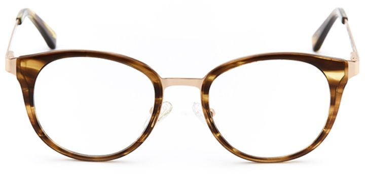 kilwinning: women's round eyeglasses in brown - front view