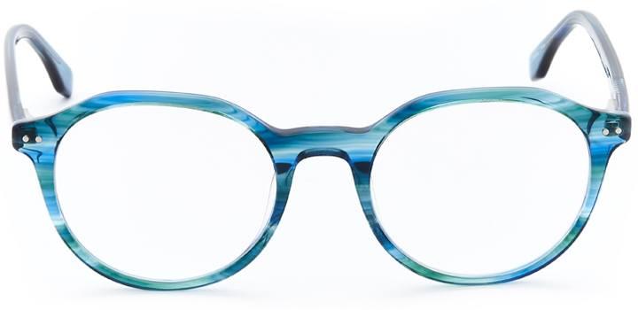 colwyn bay: geometric eyeglasses in blue - front view