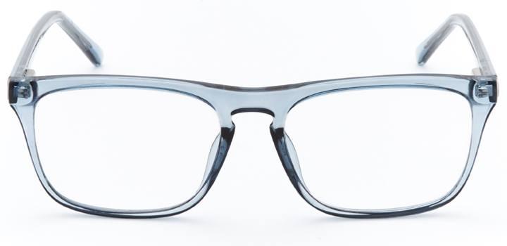 swansea: men's rectangular eyeglasses in blue - front view