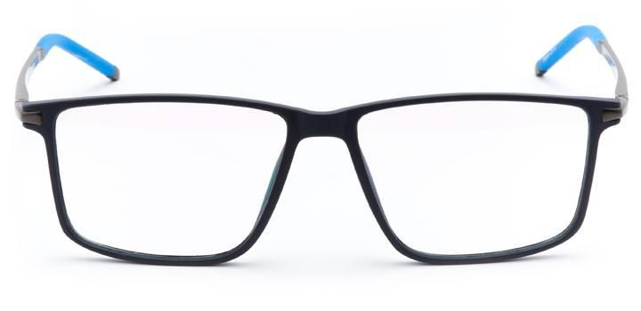 st. david's: men's square eyeglasses in blue - front view