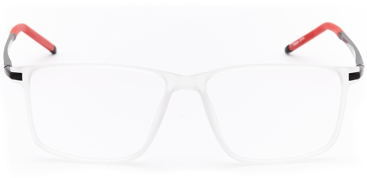 st. david's: men's square eyeglasses in crystal - front view