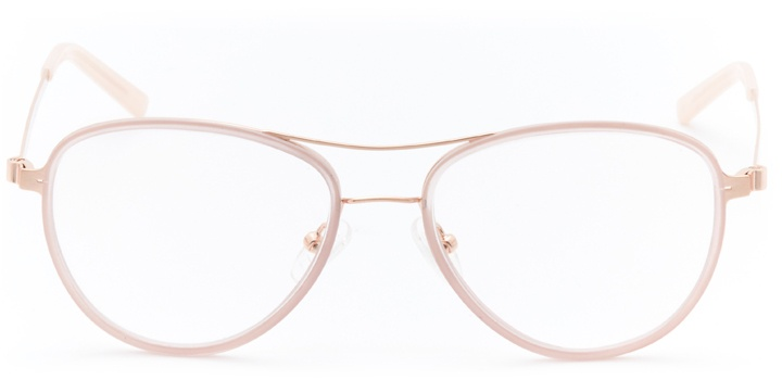 bayside: women's aviator eyeglasses in pink - front view