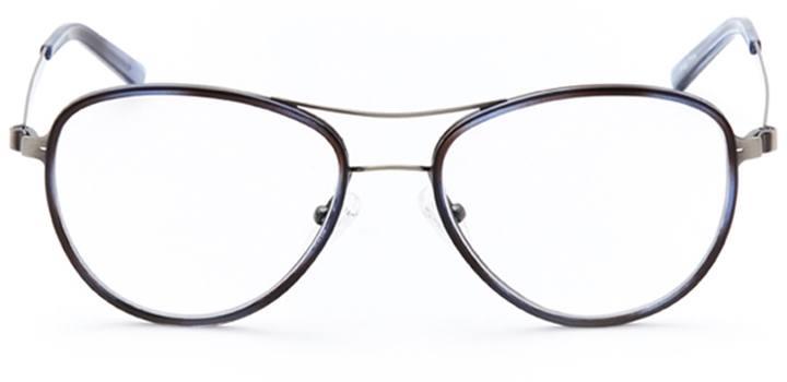 bayside: women's aviator eyeglasses in blue - front view