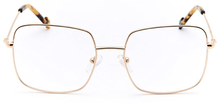vizcaya: women's square eyeglasses in gold - front view