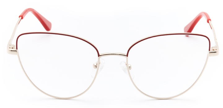 mulhouse: women's cat eye eyeglasses in red - front view