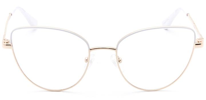 mulhouse: women's cat eye eyeglasses in white - front view