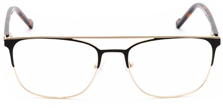space needle: men's browline eyeglasses in black - front view