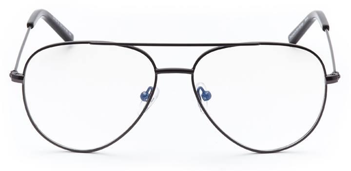 pembroke: aviator eyeglasses in gray - front view