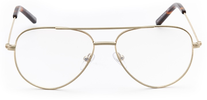 pembroke: aviator eyeglasses in gold - front view