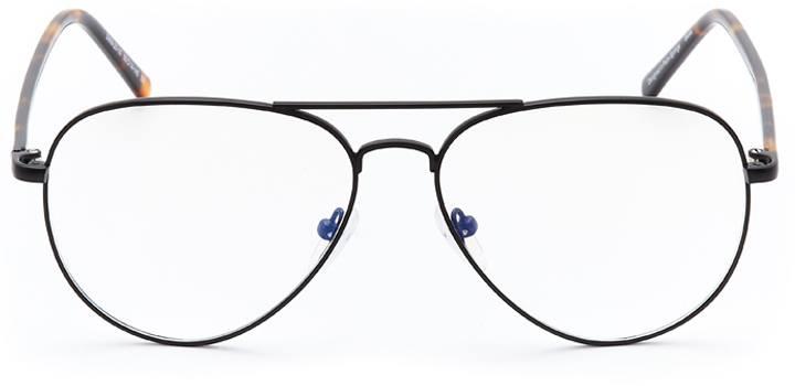 neyland: men's aviator eyeglasses in black - front view
