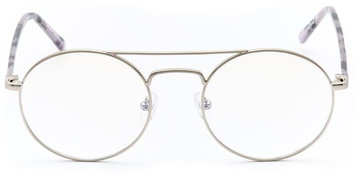 ferndale: round eyeglasses in silver - front view