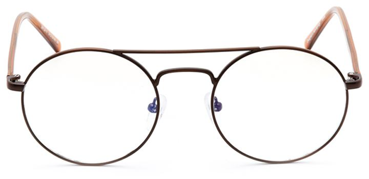 ferndale: round eyeglasses in brown - front view