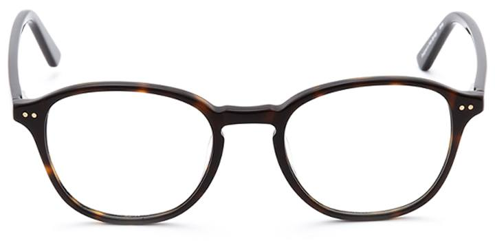 knighton: round eyeglasses in tortoise - front view