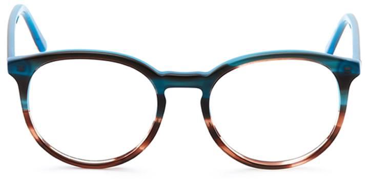 newtown: round eyeglasses in green - front view