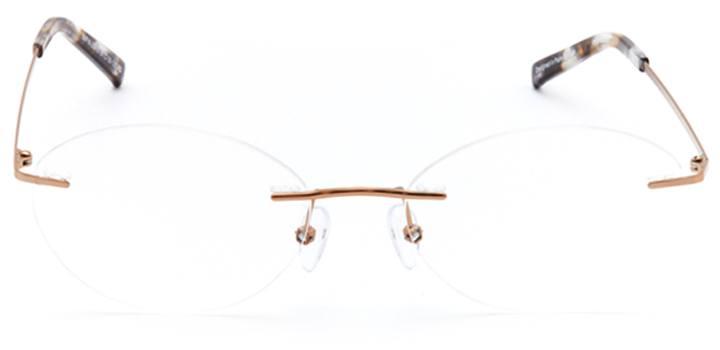 bearsden: women's oval eyeglasses in pink - front view