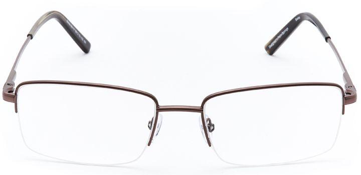 rhine falls: men's rectangular eyeglasses in brown - front view