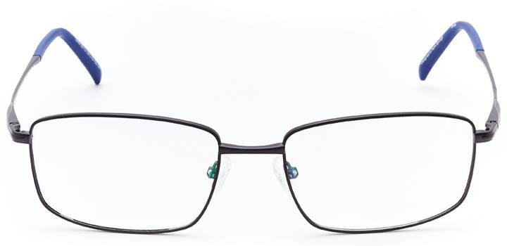 chur: men's rectangular eyeglasses in gray - front view