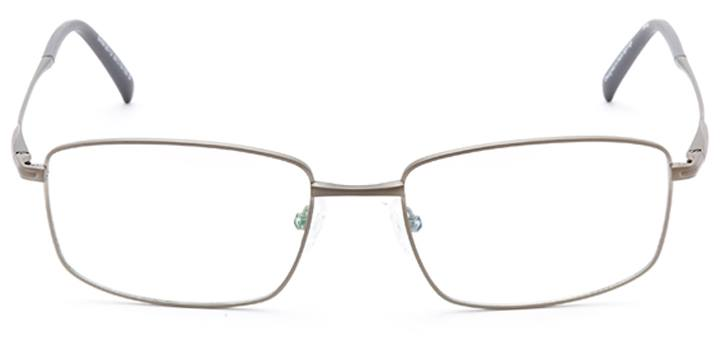 chur: men's rectangular eyeglasses in silver - front view