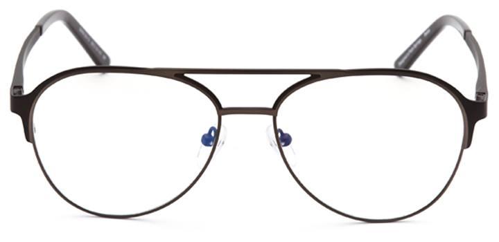 milford haven: men's aviator eyeglasses in gray - front view